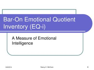 Bar-On Emotional Quotient Inventory EQ-i