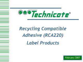 RCA Products - Technicote