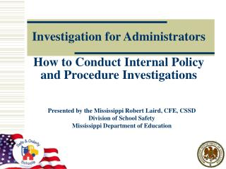 Investigation for Administrators  How to Conduct Internal Policy and Procedure Investigations