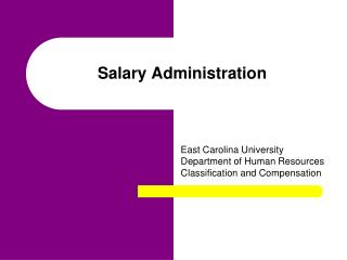 Salary Administration