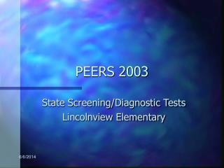 PEERS 2003