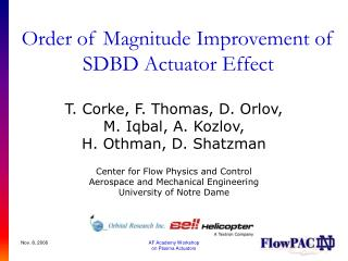 Order of Magnitude Improvement of SDBD Actuator Effect