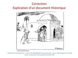 Correction  Explication d un document Historique