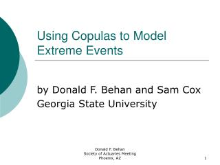 Using Copulas to Model Extreme Events