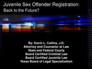 Juvenile Sex Offender Registration: