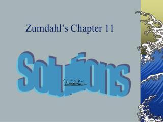 Zumdahl s Chapter 11