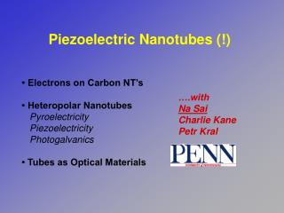 Piezoelectric Nanotubes