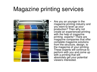 magazine printing services, cheap magazine printing