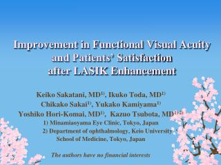 Improvement in Functional Visual Acuity and Patients  Satisfaction  after LASIK Enhancement