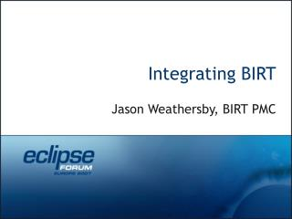 Integrating BIRT