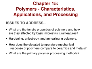 Metals and Polymers: Stress-Strain and Visco-Elastic Responses