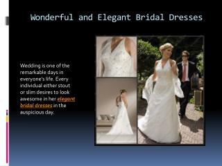 Wonderful and elegant bridal dresses