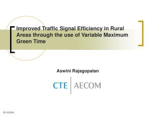 Improved Traffic Signal Efficiency in Rural Areas through the use of Variable Maximum Green Time