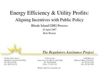 Energy Efficiency  Utility Profits: Aligning Incentives with Public Policy