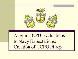 Aligning CPO Evaluations to Navy Expectations: Creation of a CPO Fitrep