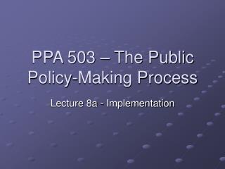 PPA 503