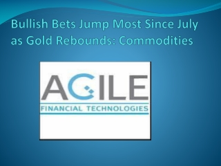 Bullish Bets Jump Most Since July as Gold Rebounds: Commodit
