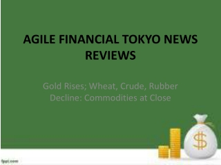 AGILE FINANCIAL TOKYO NEWS REVIEWS