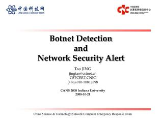 Botnet Detection  and  Network Security Alert