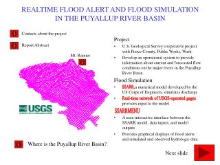 REALTIME FLOOD ALERT AND FLOOD SIMULATION IN THE PUYALLUP