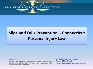 Slips and Falls Prevention – Connecticut Personal Injury Law