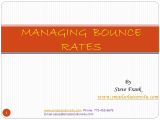 MANAGING  BOUNCE  RATES