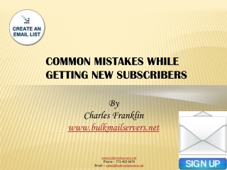 COMMON MISTAKES WHILE GETTING NEW SUBSCRIBERS