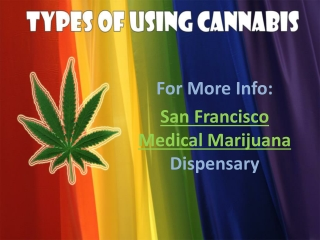 Types Of Using Cannabis