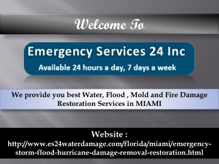 Flood Damage Restoration Miami
