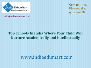 Schools In India Where Your Child Will Nurture Academically