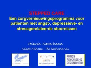 STEPPED CARE  Een zorgvernieuwingsprogramma voor patienten met angst-, depressieve- en stressgerelateerde stoornissen
