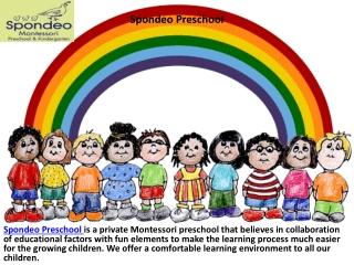 Spondeo Preschool