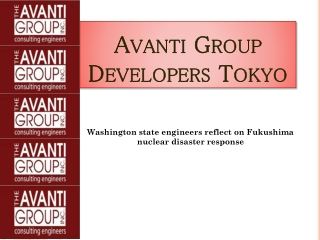 Avanti Group Developers Tokyo: Washington state engineers re