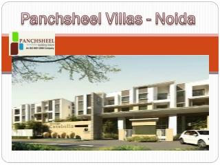 Panchsheel Villas - Upcoming Project in Noida Extension