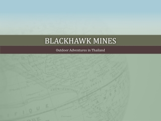 Blackhawk mines-Why it is More Fun to Shoot Video than Takin