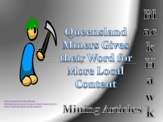 Black Hawk Mining Articles Queensland Miners Gives