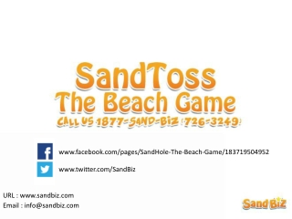 Sand toss - The Beach Game