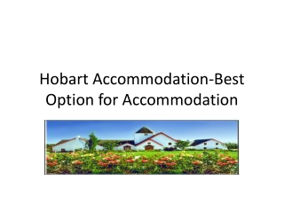 Hobart Accommodation