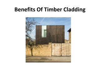 Benefits Of Timber Cladding