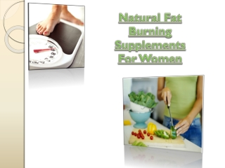 Natural Fat Burning Supplements For Women