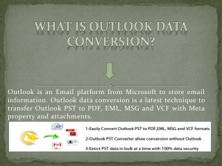 Outlook PST Extractor Recognize to Convert PST to PDF, EML..