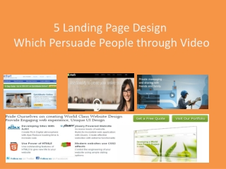 5 Landing Page Design which Use Video to Convince Visitors