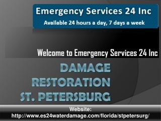 Damage Restoration St. Petersburg