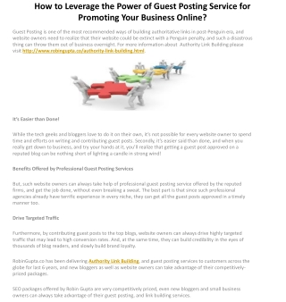 How to Leverage the Power of Guest Posting Service for Promo