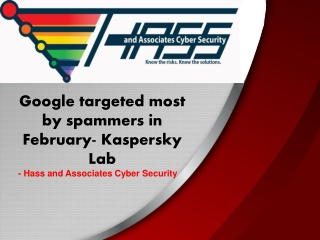 Google targeted most by spammers in February- Kaspersky Lab
