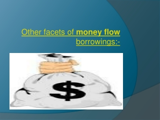 Other facets of money flow borrowings