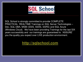 SQL School - COMPLETE PRACTICAL TRAININGS