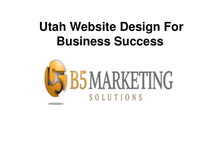 Utah Website Design For Business Success