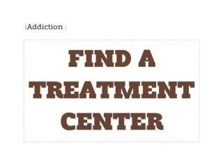 Finding an Addiction Treatment Center