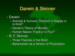 Darwin  Skinner